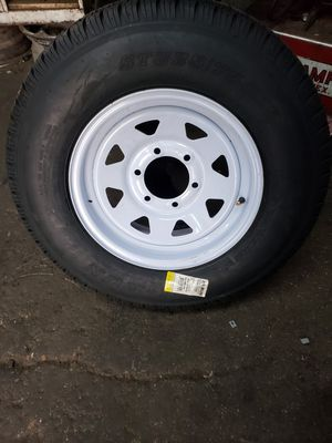 """15"""" new trailer wheels 5 lugs or 6 lugs for Sale in Fort Worth, TX"""