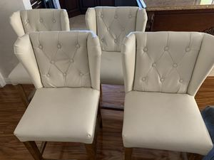 4 Countertop leather chairs for Sale in Los Angeles, CA
