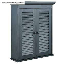 Home Decorators Collection Cottage 23-5/8 in. x 29-1/8 in. Wall Cabinet in Harbor Blue for Sale in Dallas,  TX