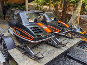 Vintage snowmobiles and trailer for Sale in North Bend, WA