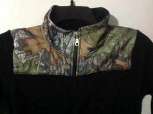 Mossy Oak Boys Fleece Jacket Size S (8) Black Camo, New with Tag for Sale in La Vergne, TN