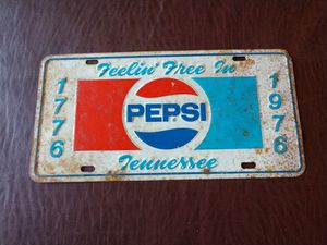 Pepsi license plate Tennessee for Sale in Oroville, CA