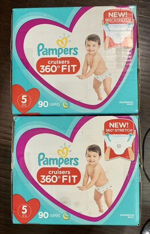 Pampers size 5 $30 per box for Sale in Long Beach, CA