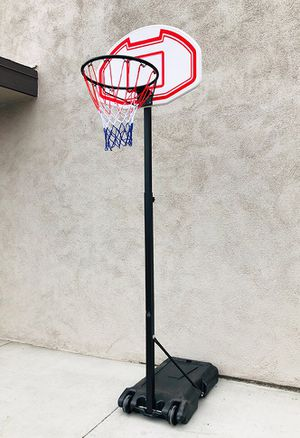 "New $45 Kids Junior Sports Basketball Hoop 28x19"" Backboard, Adjustable Rim Height 5' to 7' for Sale in South El Monte, CA"