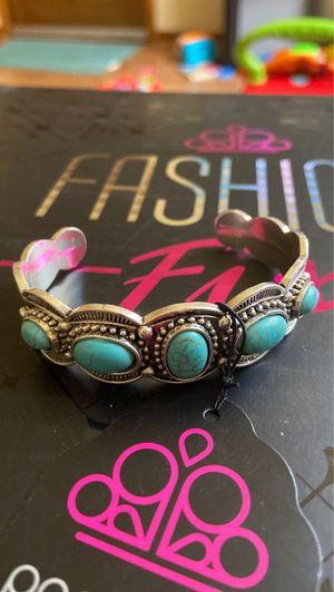 Desert Farer Turquoise Stone Cuff Bracelet for Sale in White Pine, TN