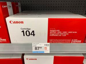 Canon cartridge 104 for image class for Sale in Aliso Viejo, CA