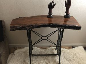 Hand crafted mesquite slab entry way/sofa table for Sale in Abilene, TX