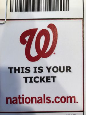 4 Nats tickets tomorrow 4:05 vs Mets COVERED WITH PARKING INCLUDED for Sale in Clifton, VA