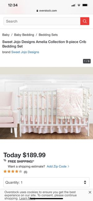 Sweet Jojo baby crib set for Sale in Virginia Beach, VA