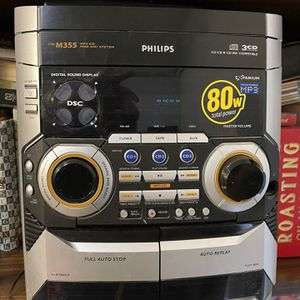 GENTLY USED PHILLIPS HOME STEREO SYSTEM FW-M355 for Sale in Dallas, TX