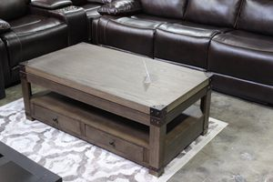 Lift Top Rectangular Cocktail Table, Greyish Brown, #T846-9 for Sale in Pico Rivera, CA