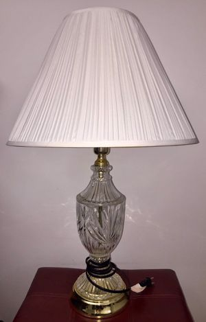 Crystal Table Lamp - Works! for Sale in Mount Vernon, OH