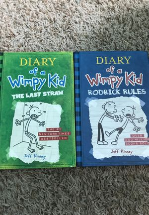 Diary of a wimpy kid books: the last straw, and rodrick rules. for Sale in Anaheim, CA