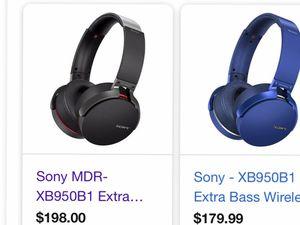 Sony wireless headphones MDR XB 950B1 for Sale in North Las Vegas, NV