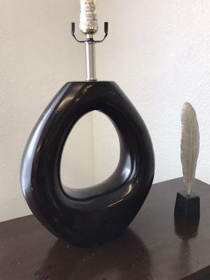 OVAL BLACK LAMP for Sale in Houston, TX