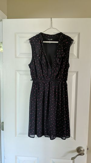 Fall sundress, Valentine's day dress, heart dreo, polkadot dress, navy sundress for Sale in Orlando, FL