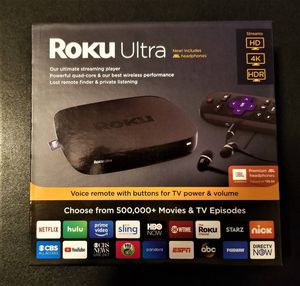 Brand new Roku Ultra 4K HDR free JBL headphones for Sale in Chicago, IL