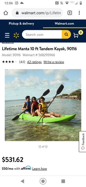 Lifetime Manta 10ft kayak for Sale in Littleton, CO