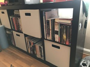 IKEA Kallax Black book case for Sale in Alexandria, VA