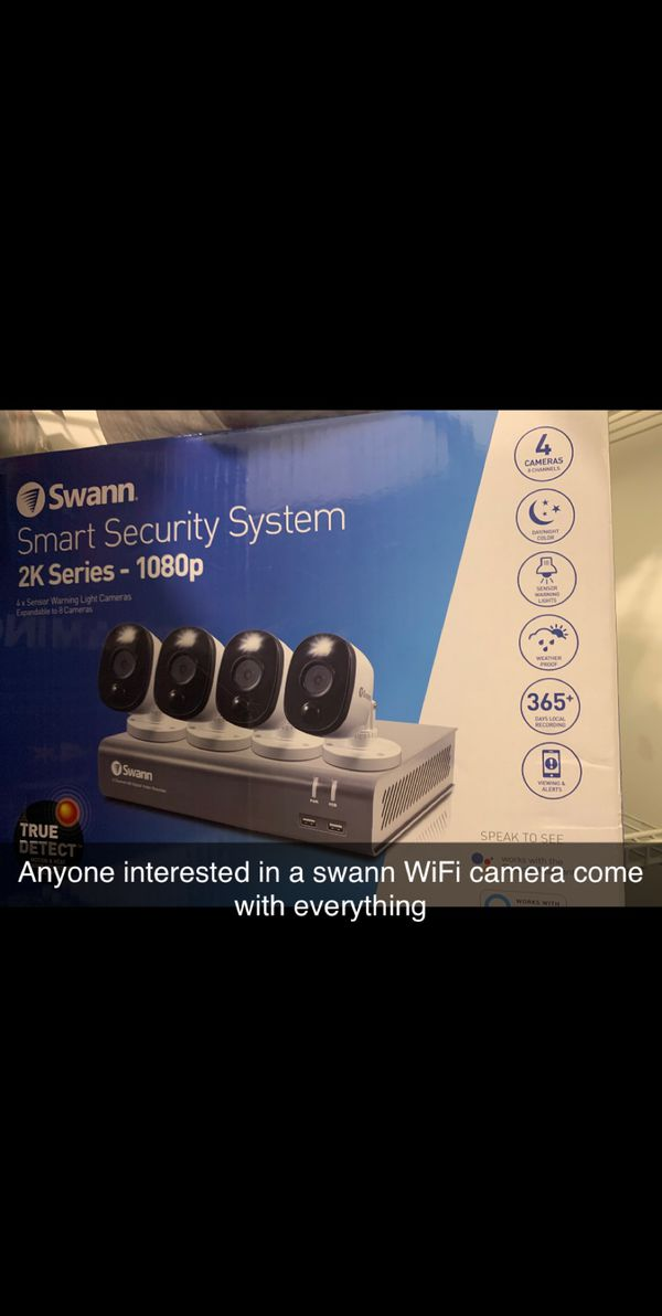 Swann security system comes with tv for monitoring