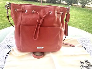 🌺 BEAUTIFUL COACH CORAL AUTHENTIC LEATHER PURSE •• $100 for Sale in Bakersfield, CA