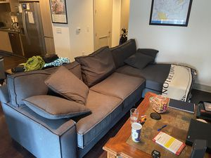 Sectional couch / sofa for sale: $1900 (Bought new, 11mo old) for Sale in Houston, TX