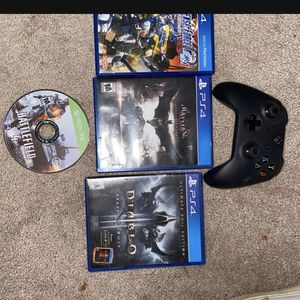 Xbox Controller + Battlefield 4 + PS4 Games for Sale in Renton, WA
