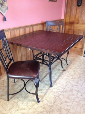 """Hillsdale wooden/iron 42"""" square table for Sale in Reading, MA"""