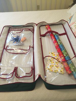 Zippered canvas gift wrap organizer for Sale in Pittsburgh, PA