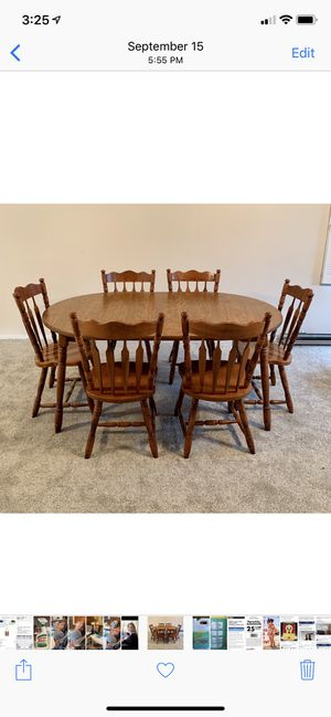 Table for a large family ~ Seats 6..... $275 for Sale in North Royalton, OH