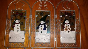 Christmas screen. Snowmen. Holiday. Downtown Chicago pick up. for Sale in Chicago, IL
