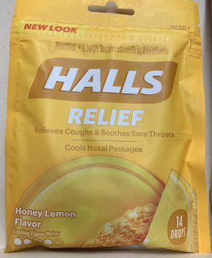 3 packs Halls Honey Lemon Drops 14 ea. for Sale in Levittown, PA