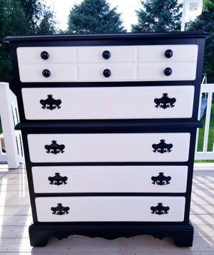 Nice Large Vintage Dresser On Wheels (Handpainted) for Sale in Manchester, PA