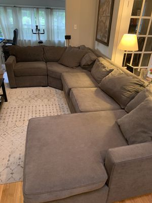Macy's Radley Collection 4 piece grey sectional couch for Sale in U SADDLE RIV, NJ