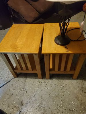 End tables and lamp for Sale in Modesto, CA