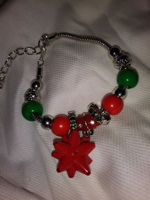 Christmas Bow Sterling Silver Charm Bracelet for Sale in Detroit, MI