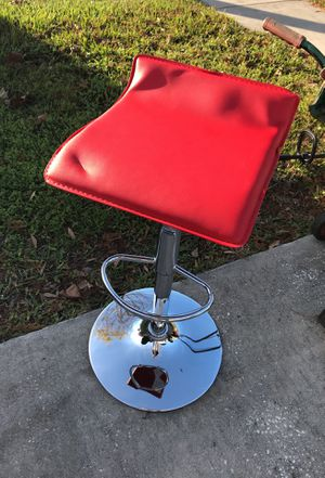 Red bar stool adjustable for Sale in Palm Harbor, FL