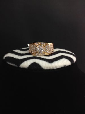 Rhinestones Men's ring 😍 | Plated Gold 14k | view my page for more rings for Sale in Perris, CA
