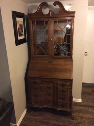 Secretary desk for sale. 32wide 18 deep 6'9 inches tall for Sale in Carrollton, TX