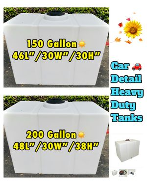NEW... Water Tank, (150G/200G) Quality X2Heavy Duty Ready To Work☀️ for Sale in Santa Ana, CA