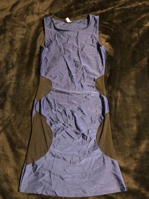 Navy blue dress with mesh on hips for Sale in Pico Rivera, CA