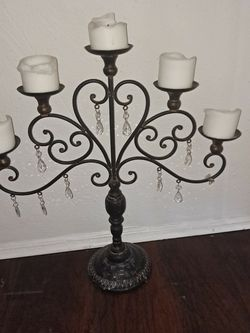 Vintage Chandelier Candle Stand With Crystals for Sale in St. Petersburg,  FL