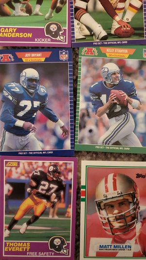 1989 football score and topps 9 cards for Sale in Alexandria, VA