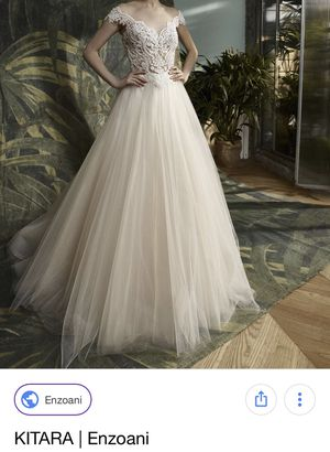 NEW Wedding Dress Enzoani Kitara, Ivory, Size 12 for Sale in Des Plaines, IL