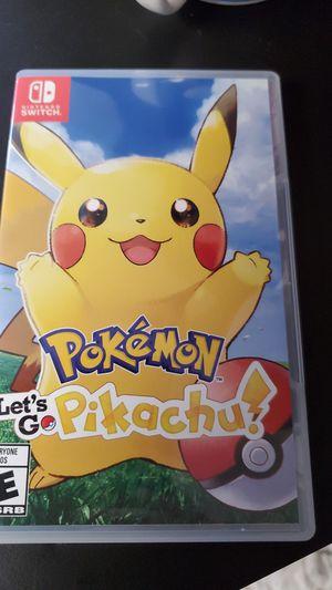 Pokemon let's go pikachu Nintendo switch for Sale in Alexandria, VA