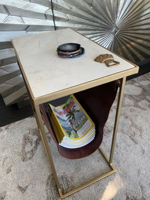 Brand new marble top end table magazine rack for Sale in Seattle, WA