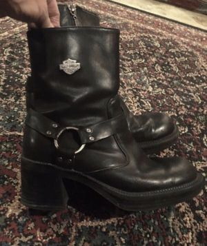 Harley Davidson Black Leather Boots Size 7.5 for Sale in Raymore, MO