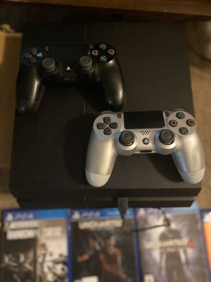 PS4 with 9 GAMES 2 CONTROLLERS! for Sale in Stone Mountain, GA