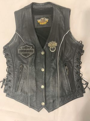 Authentic Harley D. Leather Biker Vest (Worn By True Biker) for Sale in Miami, FL