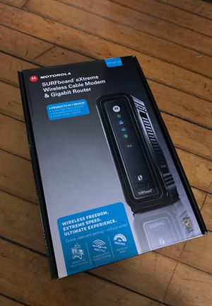 Motorola Modem and Router - Surfboard eXtreme Wireless Cable Modem and Gigabit Router for Sale in Baltimore, MD